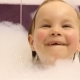 Little Happy Girl Bathes in the Bathroom with Foam - VideoHive Item for Sale