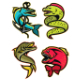 Ferocious Fish Sports Mascot Collection - GraphicRiver Item for Sale