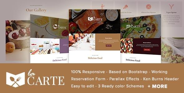 La Carte -  Restaurant / Food  HTML5 Template - Restaurants & Cafes Entertainment