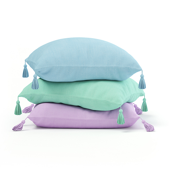Three Pillows 3D Model - 3DOcean Item for Sale