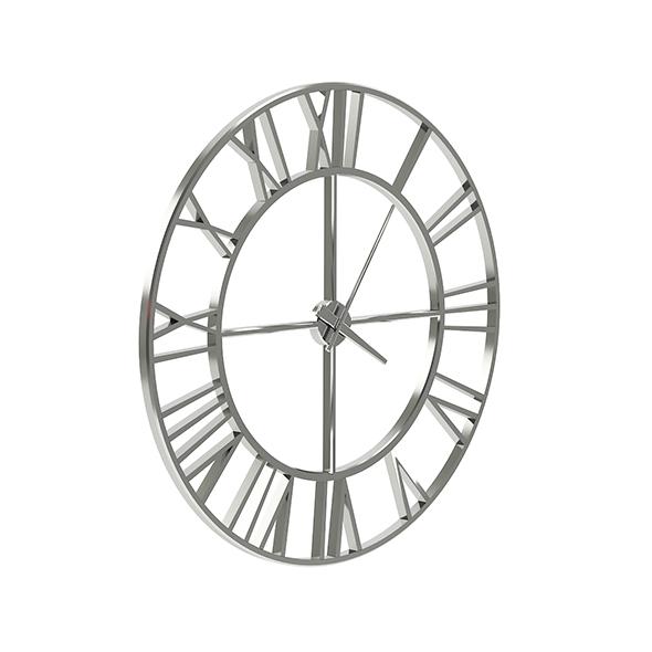 Metal Wall Clock 3D Model - 3DOcean Item for Sale