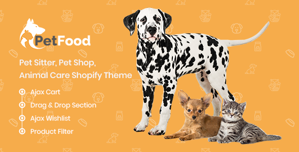 PetFood - Pet Sitter, Pet Shop, Animal Care Shopify Theme