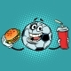 Break the Match. Fast Food Cola and Burger