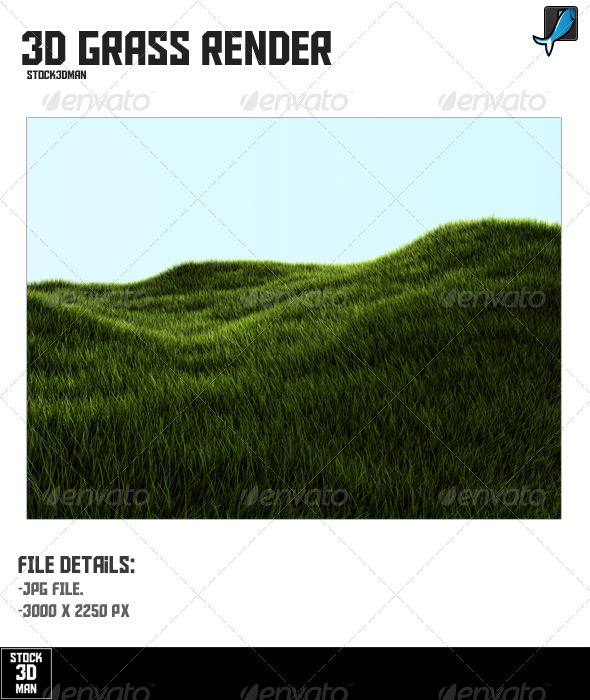 3D Grass Render - 3D Renders Graphics