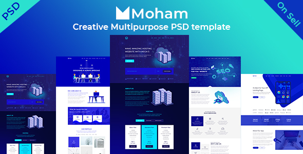 Moham – Creative Multipurpose PSD Templates