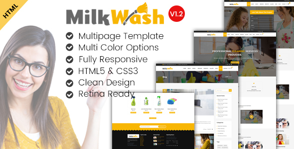 MilkWash - Cleaning Service Company Website Template - Miscellaneous Specialty Pages