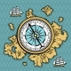 Background with Old Nautical Map - GraphicRiver Item for Sale