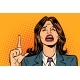 Crying Woman Pointing Up - GraphicRiver Item for Sale