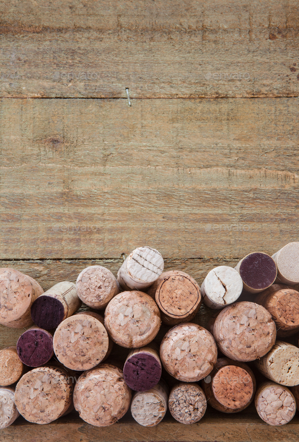 Wine and champagne corks - Stock Photo - Images
