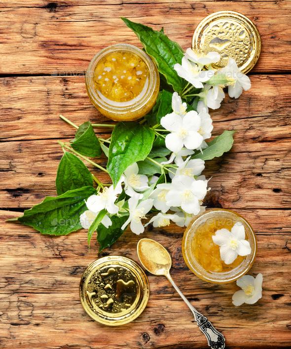 Jasmine flower jam - Stock Photo - Images