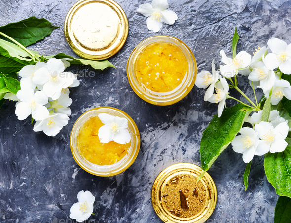 Jasmine flower jam - Stock Photo - Images