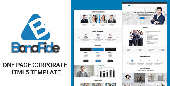Bonafide – One Page Corporate HTML5 Template