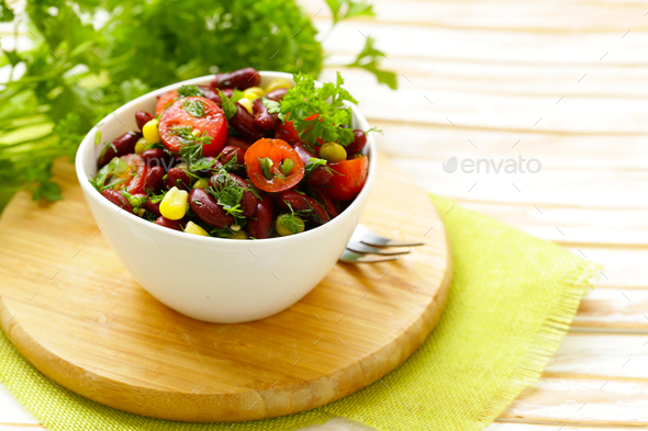 Salad of Red Beans - Stock Photo - Images