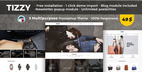 Tizzy - Multipurpose Responsive Prestashop 1.7 Theme | Fashion Store | Watch Store | Bag Store