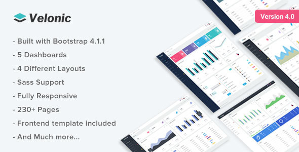 Velonic - Responsive Bootstrap 4 Admin Dashboard & Frontend - Admin Templates Site Templates