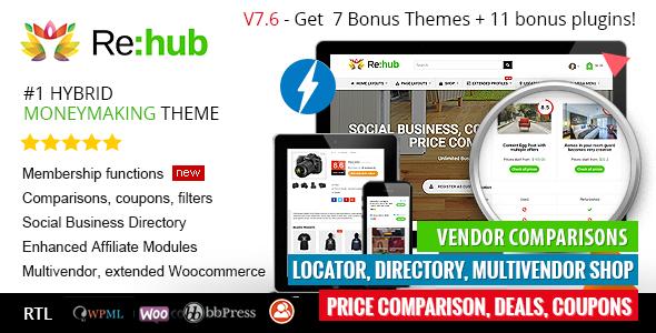 REHub - Price Comparison, Affiliate Marketing, Multi Vendor Store, Community Theme - Blog / Magazine WordPress