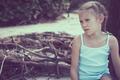 Portrait of one sad little girl. - PhotoDune Item for Sale