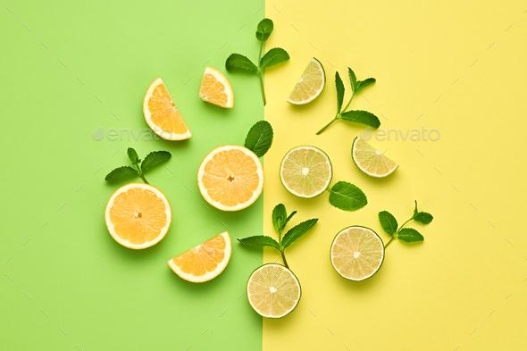 Orange Fresh Fruit. Vegan Food Concept.Minimal - Stock Photo - Images