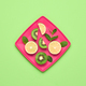Lemon Kiwi. Fresh Fruit.Vegan Food Concept.Minimal - PhotoDune Item for Sale