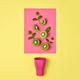 Kiwi Fresh Fruit. Vegan Food Concept. Minimal - PhotoDune Item for Sale