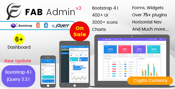 Image of Fab Admin - Responsive Admin Dashboard Template Web App