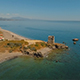 Drone View of Mediterranean Coast with Historic Fortress - VideoHive Item for Sale