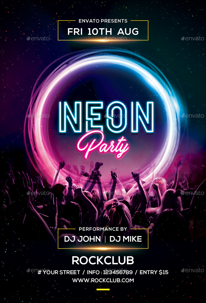 neon party by sunilpatilin