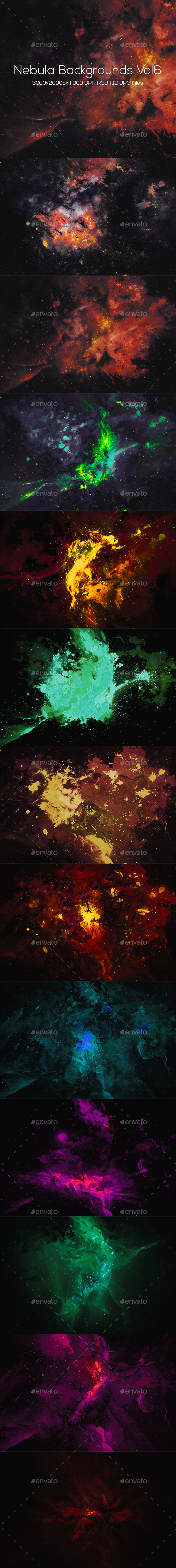 Nebula Backgrounds Vol6 - Abstract Backgrounds