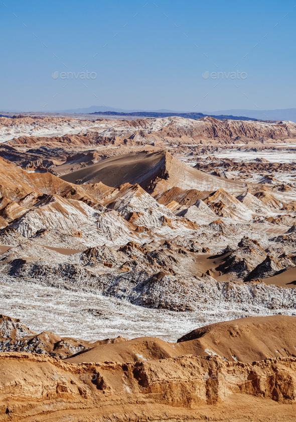 Moon Valley, Atacama Desert in Chile - Stock Photo - Images