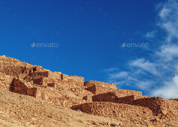 Pukara de Quitor, Atacama Desert in Chile - Stock Photo - Images