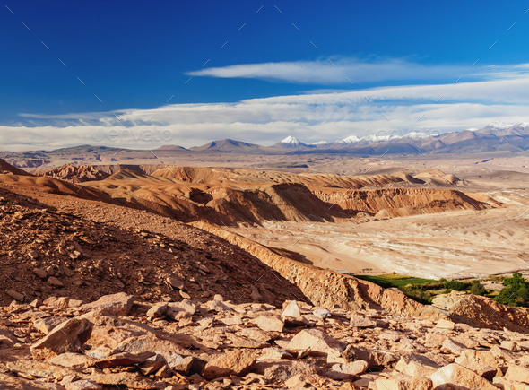 Atacama Desert in Chile - Stock Photo - Images