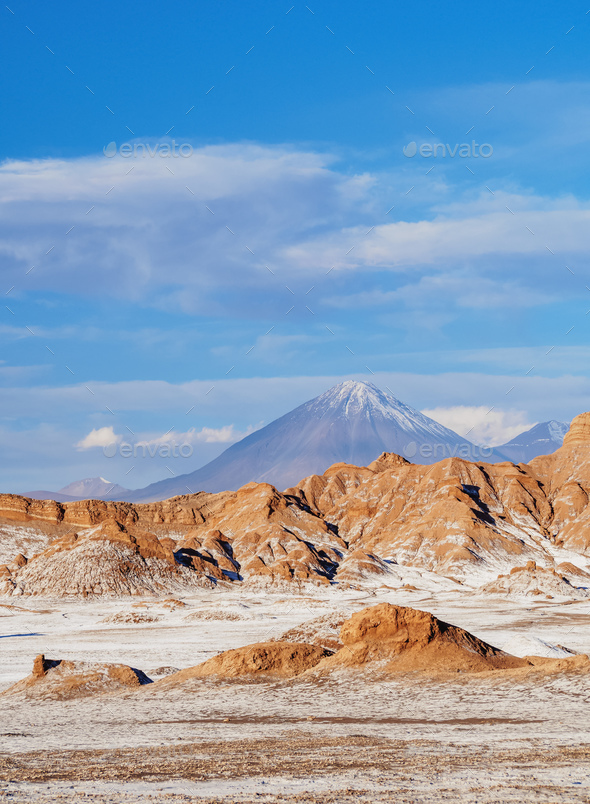 Moon Valley, Atacama Desert in Chile - Stock Photo - Images