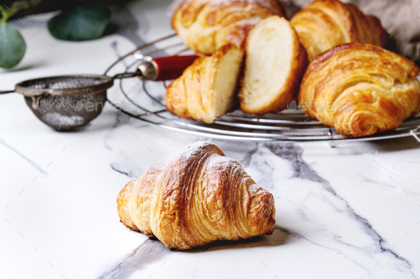 Fresh baked croissant - Stock Photo - Images