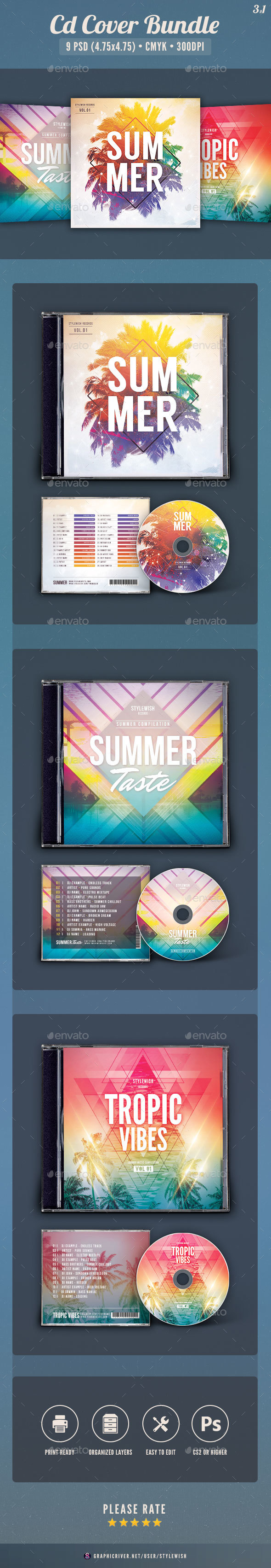 Summer CD Cover Bundle Vol.04 - CD & DVD Artwork Print Templates