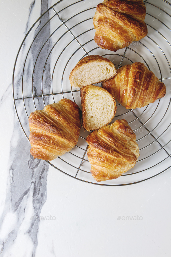 Fresh baked croissant - Stock Photo - Images