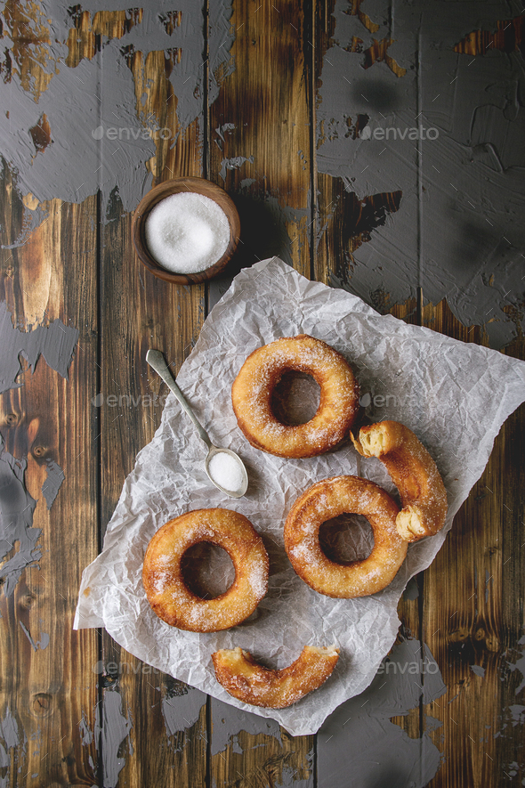 Puff pastry donuts cronuts - Stock Photo - Images