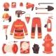 Firefighter Vector Firefighting Equipment Firehose