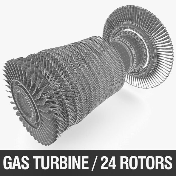 Gas Turbine Rotors - 3DOcean Item for Sale