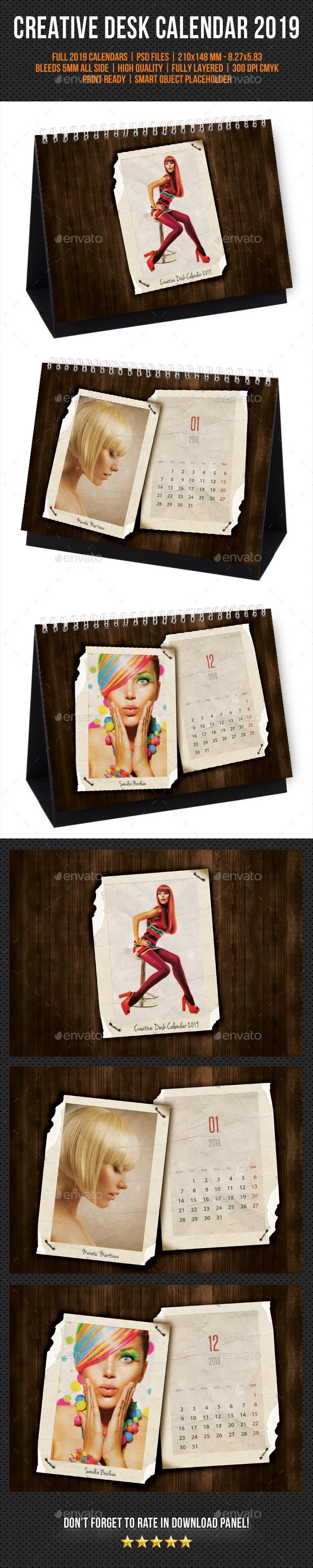 Creative Desk Calendar 2019 V32 - Calendars Stationery