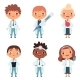 Children in the Doctor Profession in the Various - GraphicRiver Item for Sale