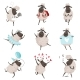 Funny Cartoon Sheeps in Various Action Poses