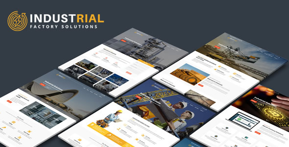 Industric - Responsive Industrial & Factory Solutions HTML Template by QuickDev
