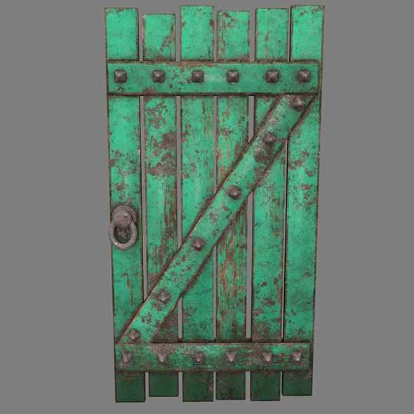 Medieval_Door - 3DOcean Item for Sale