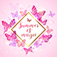 Summer Background with Pink and Violet Butterflies - GraphicRiver Item for Sale