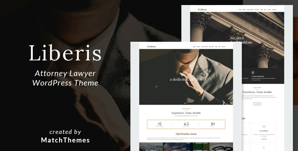 Liberis - Attorney Lawyer WordPress Theme - Business Corporate