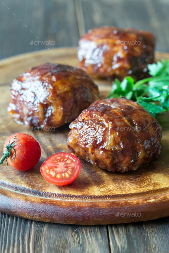 Bacon meatballs  - Stock Photo - Images