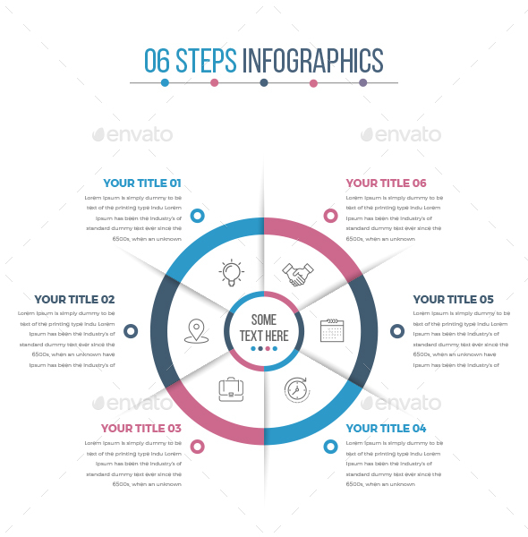 Business Circle Infographics with 06 Steps - Infographics
