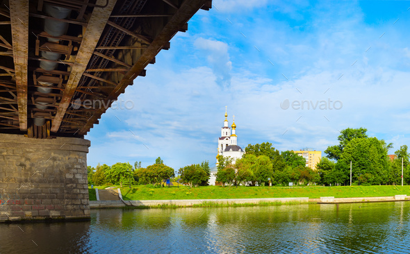 View of the Oka waterfront - Stock Photo - Images