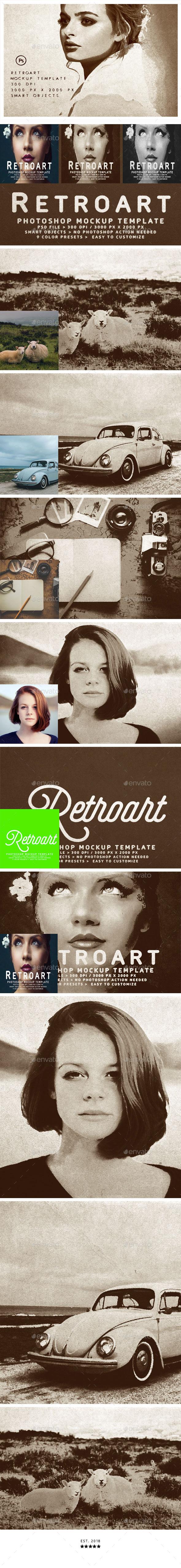 Retroart Mockup Template - Photo Templates Graphics