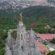 Aerial View of Tibidabo Monument and Amusement Park - VideoHive Item for Sale